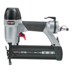 PORTER-CABLE BN200B 5/8 Inch to 2 Inch 18-Gauge Brad Nailer. Long life maintenance-free motor to keep from staining the work surface. Internal piston catch for consistent max power on every shot. Rear exhaust to keep contaminants away from work. Drives 18 ga. nails from 5/8-inch to 2-inch length; Tool-free depth-of-drive adjustment with detents for proper setting of nail heads. Measures 9-3/4by10.4 inches; weighs 2.6 pounds.