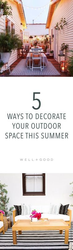 How to decorate your outdoor space for summer