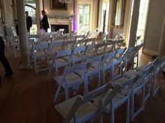 Ceremony set up at an angle!
