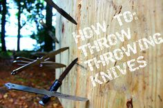 Knife throwing is fun, and even useful in some cases, but it's also pretty… Survival Weapons, Survival Knife, Survival Prepping, Survival Skills, Survival Gear, Survival Essentials, Knife Throwing, Throwing Knife Target, Buck Knives