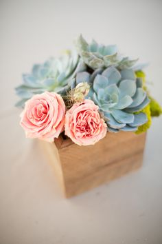 beautiful boxed centerpiece