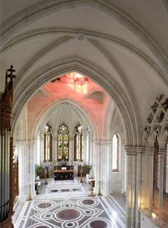 """The beautiful chapel at Mount Stuart, Rothsay, Isle of Bute, Scotland.  Stella McCartney was married here. You can have your wedding here and your reception in the one of the beautiful rooms of the """"castle."""""""