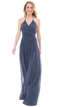 Perfect site for having a lot of Bridesmaids. Dusty Blue. bridesmaid long dresses and short dresses in similar styles.