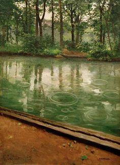 Gustave Caillebotte-L''Yerres,  effet de pluie