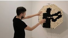 Daniel Rozin reinvents the mirror with furry pompoms and an Xbox Kinect.