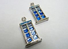 Dr Who Inspired Tardis Police Box Charms by ArtBoxSupplies on Etsy