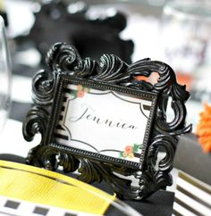 When the party favors call for distinctive elegance, picture these Baroque photo frames on your reception tables! Wedding Favours Bridesmaids, Unique Wedding Favors, Unique Weddings, Bridesmaid Gifts, Wedding Gifts, Reception Table, Reception Ideas, Bridal Shower Favors, Bat Mitzvah