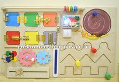 "Купить Бизиборд Развивающий Модуль Доска ""Классика Монтессори"" - комбинированный, бизиборд, развивающая доска Busy Boards For Toddlers, Sensory Boards, Activity Board, Home Daycare, Motor Activities, New Baby Gifts, Baby Toys, Wooden Toys, Montessori"