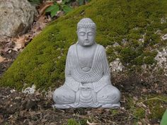 - Handmade item - Materials: concrete, cement, sand, stone, rock - Ships Only to US Concrete buddha statues add a little zen. Bring spirituality, thoughtfulness, meditation and tranquility to your hom