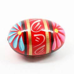 "A Polish Kitchen Online Favorite! - Approx. 2.5"" x 1.5"" per Egg - 100% Hand painted and imported directly from Boleslawiec, Poland - Slight variations in pattern / design to be expected - Lead and Cad"