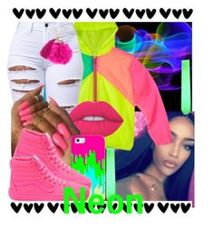 """""""Neon"""" by brandylovebrandy ❤ liked on Polyvore featuring Lime Crime and Casetify"""