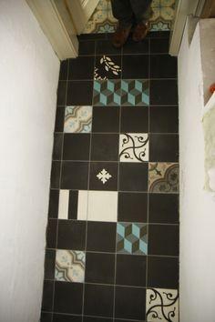 MOZA cementlapokból a kis felületekre is Scrabble, Cement, Scrappy Quilts, Concrete
