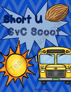 Short U CvC SCOOT Game- 20 CvC Word Cards PLUS 4 different recording sheets from TheKinderLife on TeachersNotebook.com -  (8 pages)  - Help your kiddos master their short U CvC words with this 20 card SCOOT game!
