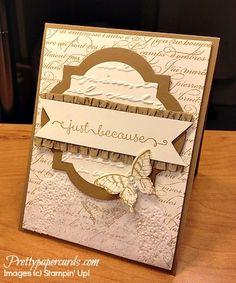 Stampin' Up! Window Frames Framelits and Pretty Print Embossing Folder