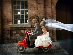 Chasing Rainbows Kissing Frogs: Vespa for Wedding