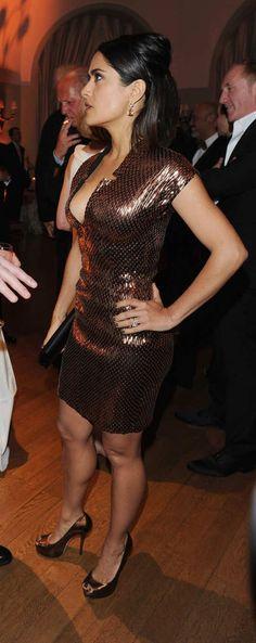 Salma Hayek-High Heels #hothighheelssexyoutfits