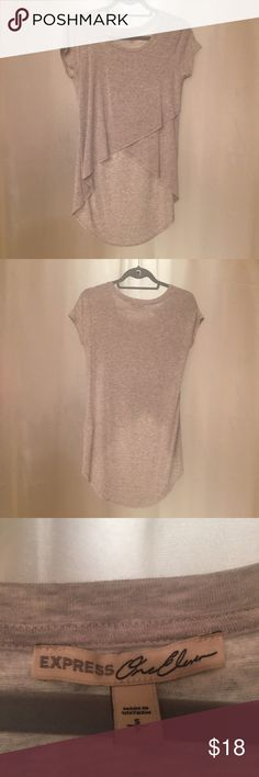 Express One Eleven high-low shirt. Never worn, no tags. Heather gray high-low Express shirt. Express Tops