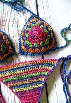 Häkeln Sie Bikini Häkel Bademode Badeanzug gehäkelt Crochet