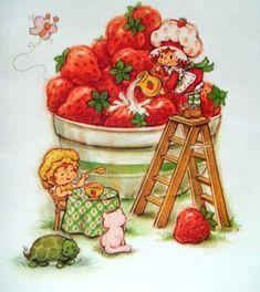 Strawberry Shortcake Vintage ❤ with Apple Dumplin and Custard Strawberry Shortcake Characters, Vintage Strawberry Shortcake Dolls, Dibujos Cute, Rainbow Brite, Illustration, 80s Kids, Holly Hobbie, Childhood Memories, 1980s Childhood