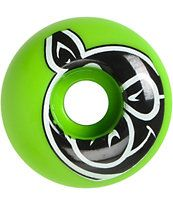 Pig Head 53mm Neon Green Skateboard Wheels