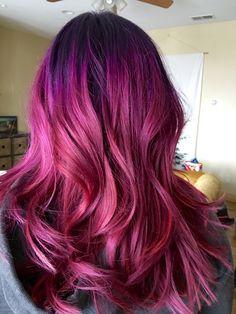 Magenta Hair #mermaidhair