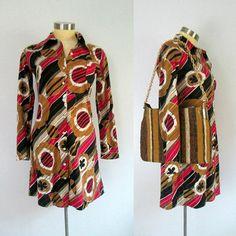 Vintage Mod Mini Shirt Dress // Abstract Print Long Sleeve Mod Girl, Mini Shirt Dress, Abstract Print, I Shop, Paradise, Group, Knitting, School, Long Sleeve