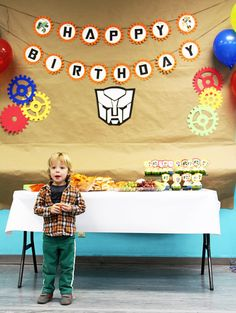 Ethan Turns 4 — His Rescue Bots Birthday Party Bash