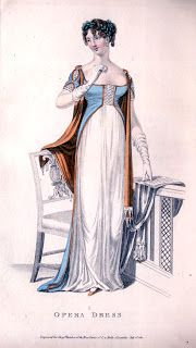Regency Ramble: Regency Fashion 1811, Opera Dress