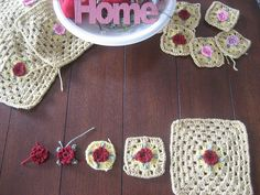 Homemade flower grannies