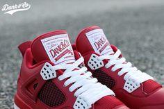 Air Jordan 4 Red Cleats Sole Swap Custom