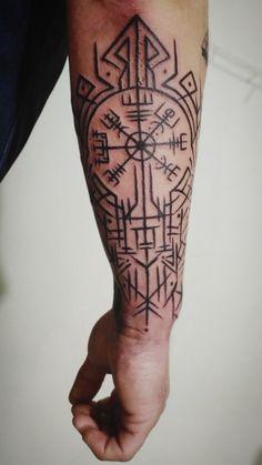 Viking Compass Tattoo, Viking Tattoo Sleeve, Viking Tattoo Symbol, Norse Tattoo, Sleeve Tattoos, Viking Tattoos For Men, Viking Warrior Tattoos, Arm Tattoos For Guys, Fist Tattoo