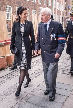 Crown Princess Mary marks the 70th of the liberation of Denmark with WWII vet May 5, 2015