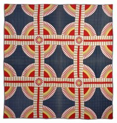pieced New York Beauty quilt, c. 1865, Kentucky | collection of Bill Volckening, featured in American Quilter - July 2014