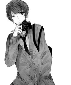 Image about boy in Black And White / Manga by D. Hot Anime Boy, Cute Anime Guys, Anime Love, Manga Boy, Anime Manga, Anime Art, Animé Fan Art, Anime Kunst, Anime People