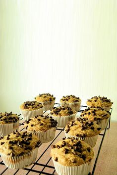 Healthy Banana Chocolate Chip Muffins   Delicious Cooking