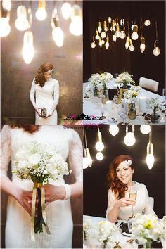 art deco wedding inspiration AD_072.. LOVE the lights!!