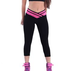 6c62eb433c02c HOVEOX Women's Cotton Stretch Sports Running Yoga Tights Leggings ** Visit  the image link more details.