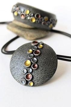 Polimero argilla bracciale gioielli braccialetto largo argento