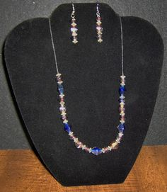 Silver and Glass Handmade Necklace and Earrings ... for all those neat days you want to sparkle!  $14.95