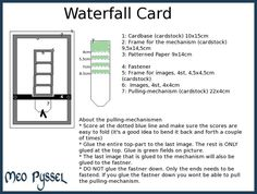 waterfall card | Cards, waterfall cards | Pinterest