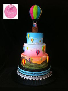 A magnificent Divine Design balloon wedding cake