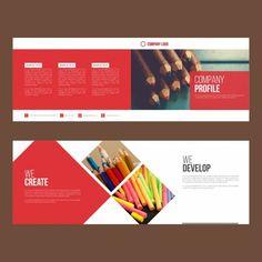 Artistic corporate brochure Free Vector
