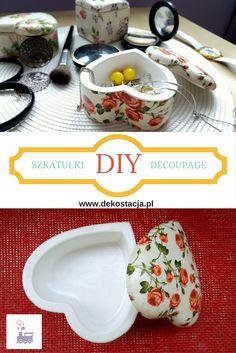 Szkatułki Decoupage do samodzielnego wykonania! Zapraszamy na stronę. #diy #decoupage #dekoracje