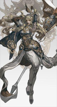 Warrior girl by Kallisto Fantasy Character Design, Character Design Inspiration, Character Concept, Character Art, Fantasy Armor, Anime Fantasy, Fantasy Women, Fantasy Girl, Dungeons E Dragons