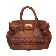 Amazing and gorgeous details on this GUCCI brown vintage leather handbag tote