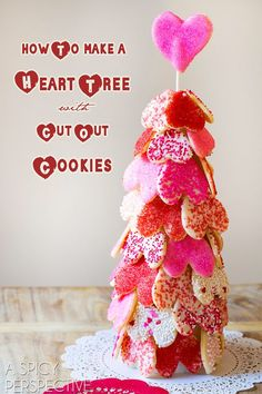 How to Make an Easy Heart Tree with our Cut Out Cookie Recipe on ASpicyPerspective.com