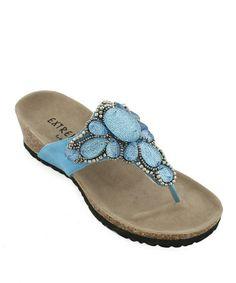 Look what I found on #zulily! Blue Jade Sandal #zulilyfinds