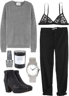 """SILVER"" by clourr ❤ liked on Polyvore"