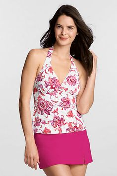 19bba25c14ed0 Love Lands End Swim Suits!Women's Beach Living Orchid Floral V-neck Tankini  Top from Lands' End