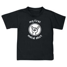 "Origineel ""Metal-Kids""-""My First Metal Shirt"" kids shirt"